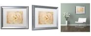 "Trademark Global Cora Niele 'Amber Begonia Flower' Matted Framed Art - 20"" x 16"" x 0.5"""