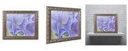 "Trademark Global Cora Niele 'Blue Hortensia' Ornate Framed Art - 20"" x 16"" x 0.5"""