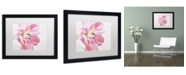 "Trademark Global Cora Niele 'Cerise Tulip' Matted Framed Art - 16"" x 20"" x 0.5"""