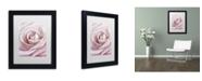 "Trademark Global Cora Niele 'Pink Rose' Matted Framed Art - 11"" x 14"" x 0.5"""