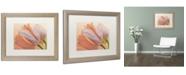 "Trademark Global Cora Niele 'Two Orange Tulips' Matted Framed Art - 20"" x 16"" x 0.5"""