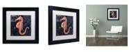 "Trademark Global Color Bakery 'Maritime Blues I' Matted Framed Art - 11"" x 11"" x 0.5"""