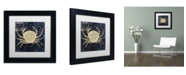 "Trademark Global Color Bakery 'Maritime Blues III' Matted Framed Art - 11"" x 11"" x 0.5"""