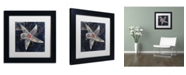 "Trademark Global Color Bakery 'Maritime Blues IV' Matted Framed Art - 11"" x 11"" x 0.5"""