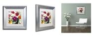 "Trademark Global Color Bakery 'Printemps III' Matted Framed Art - 11"" x 0.5"" x 11"""