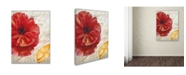 "Trademark Global Color Bakery 'Red Poppy' Canvas Art - 35"" x 2"" x 47"""