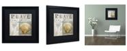 "Trademark Global Color Bakery 'Beach Book I' Matted Framed Art - 16"" x 16"" x 0.5"""