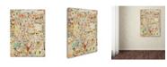 "Trademark Global Colin Johnson 'Effloresce' Canvas Art - 19"" x 14"" x 2"""