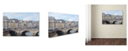 "Trademark Global Cora Niele 'Center of Paris' Canvas Art - 19"" x 12"" x 2"""