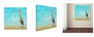 "Trademark Global Jai Johnson 'Life Is Better By The Sea' Canvas Art - 14"" x 14"" x 2"""