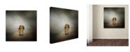 "Trademark Global Jai Johnson 'It's Showtime Baby Red Dachshund Dog' Canvas Art - 14"" x 14"" x 2"""