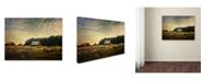 "Trademark Global Jai Johnson 'Red Barn At The Cotton Field' Canvas Art - 47"" x 35"" x 2"""