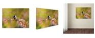 "Trademark Global Jai Johnson 'Impressionist Chickadee' Canvas Art - 24"" x 18"" x 2"""