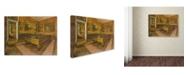 "Trademark Global Degas 'Billiard Room At Menilhubert' Canvas Art - 32"" x 24"" x 2"""