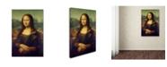 """Trademark Global Da Vinci 'Mona Lisa' Canvas Art - 19"""" x 12"""" x 2"""""""