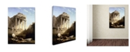 """Trademark Global David Roberts 'Ruins Of The Temple Of Bacchus' Canvas Art - 32"""" x 24"""" x 2"""""""