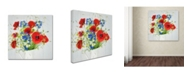 "Trademark Global Cora Niele 'Wildflower Bouquet' Canvas Art - 18"" x 18"" x 2"""