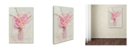 "Trademark Global Cora Niele 'Small Pink Bouquet' Canvas Art - 47"" x 30"" x 2"""