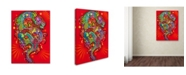 "Trademark Global Dean Russo 'Red Dragon' Canvas Art - 32"" x 24"" x 2"""