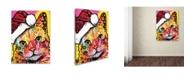 """Trademark Global Dean Russo 'Tilt Cat Christmas Edition' Canvas Art - 32"""" x 24"""" x 2"""""""