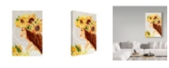 "Trademark Global Irina Trzaskos Studio 'Sunflower Girl I' Canvas Art - 47"" x 30"" x 2"""