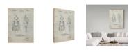 "Trademark Global Cole Borders 'Robot 1' Canvas Art - 19"" x 14"" x 2"""