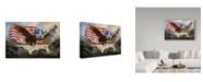 "Trademark Global D. Rusty Rust 'Eagle Usa' Canvas Art - 24"" x 16"" x 2"""