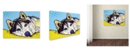 "Trademark Global Dean Russo 'Siberian Husky II' Canvas Art - 26"" x 32"" x 2"""