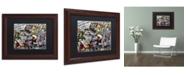"Trademark Global Dan Monteavaro 'Mimosas' Matted Framed Art - 14"" x 11"" x 0.5"""
