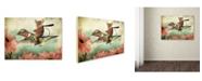 "Trademark Global J Hovenstine Studios 'Catching A Ride On A Hummingbird' Canvas Art - 32"" x 24"" x 2"""