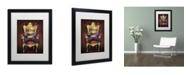 """Trademark Global J Hovenstine Studios 'The Frog Prince' Matted Framed Art - 16"""" x 20"""" x 0.5"""""""