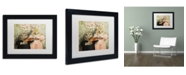 """Trademark Global J Hovenstine Studios 'The Owl And The Pussycat' Matted Framed Art - 11"""" x 14"""" x 0.5"""""""