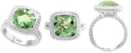 EFFY Collection EFFY® Green Quartz (4-1/3 ct. t.w.) Ring in Sterling Silver