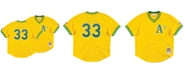 Mitchell & Ness Men's Jose Canseco Oakland Athletics Authentic Mesh Batting Practice V-Neck Jersey