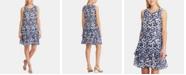 Lauren Ralph Lauren Petite Tiered-Ruffle Floral Dress