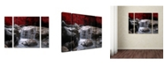"Trademark Global Philippe Sainte-Laudy 'Red Vison' Multi Panel Art Set Small - 32"" x 24"" x 2"""