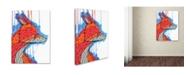 "Trademark Global Ric Stultz 'Sly As A' Canvas Art - 24"" x 18"" x 2"""