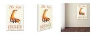 "Trademark Global Michelle Campbell 'Fox Breed' Canvas Art - 19"" x 12"" x 2"""