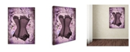 "Trademark Global Tina Lavoie 'Corsetiere Deux' Canvas Art - 19"" x 14"" x 2"""