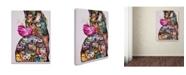 "Trademark Global Oxana Ziaka 'Near The Peony' Canvas Art - 24"" x 18"" x 2"""