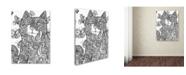 "Trademark Global Oxana Ziaka 'Ireland Cat 2' Canvas Art - 47"" x 35"" x 2"""