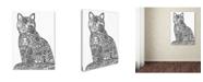 "Trademark Innovations Oxana Ziaka 'Sun Cat 2' Canvas Art - 24"" x 18"" x 2"""