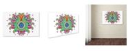 """Trademark Global Miguel Balbas 'Flower 3' Canvas Art - 19"""" x 12"""" x 2"""""""