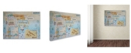 "Trademark Global Vintage Gypsy 'Wonder' Canvas Art - 19"" x 14"" x 2"""