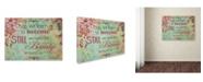 "Trademark Global Janelle Nichol 'Become Still (floral theme)' Canvas Art - 47"" x 35"" x 2"""