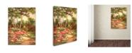 "Trademark Global Wanda Mumm 'Along the Garden Path - Final' Canvas Art - 47"" x 35"" x 2"""