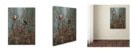 "Trademark Global Wanda Mumm 'Scissortail And Redbud' Canvas Art - 47"" x 35"" x 2"""