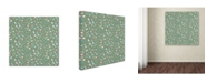 "Trademark Global Yachal Design 'Pink Blossoms 800' Canvas Art - 18"" x 18"" x 2"""