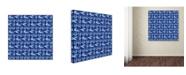 "Trademark Global Yachal Design 'Watercolor Blues 100' Canvas Art - 14"" x 14"" x 2"""