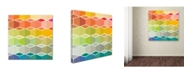 "Trademark Global Sylvie Demers 'Flanneur (Square)' Canvas Art - 35"" x 35"" x 2"""